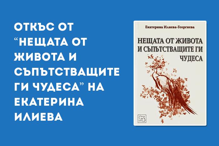 """Откъс от """"Нещата от живота и съпътстващите ги чудеса"""" на Екатерина Илиева"""
